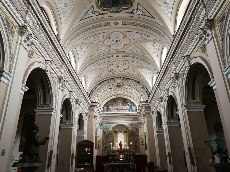 Pietrelcina - wnętrze sanktuarium obrazy royalty free