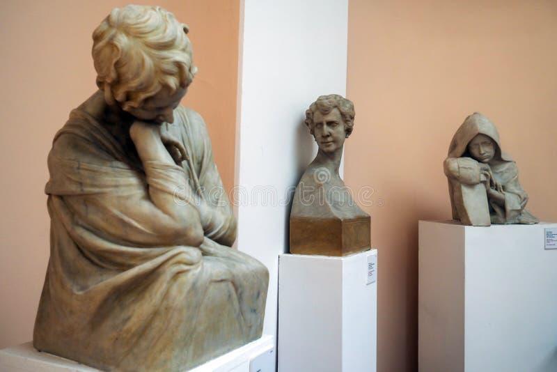Pietro Canonica Museum in den Landhaus Borghese-Gärten in Rom, Italien stockbild