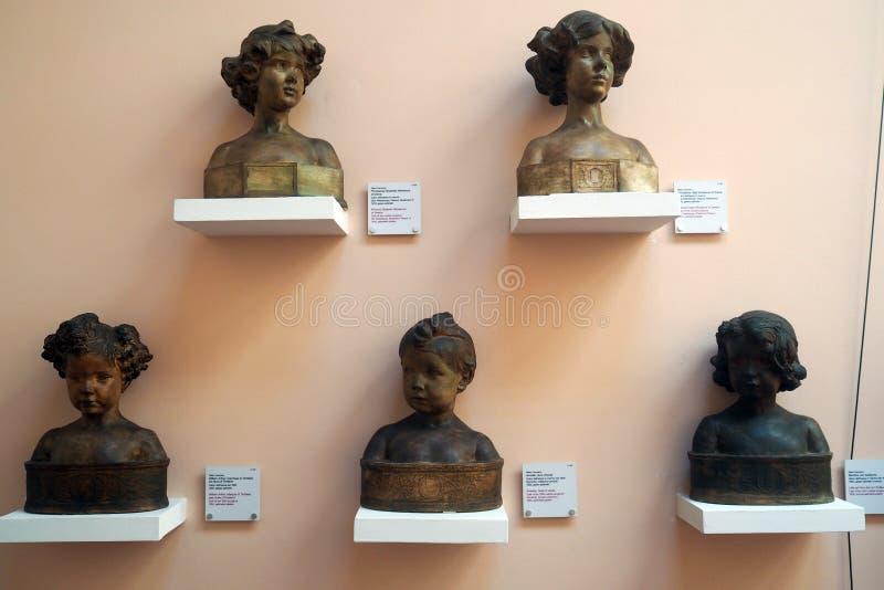 Pietro Canonica Museum en los jardines de Borghese del chalet en Roma, Italia fotos de archivo