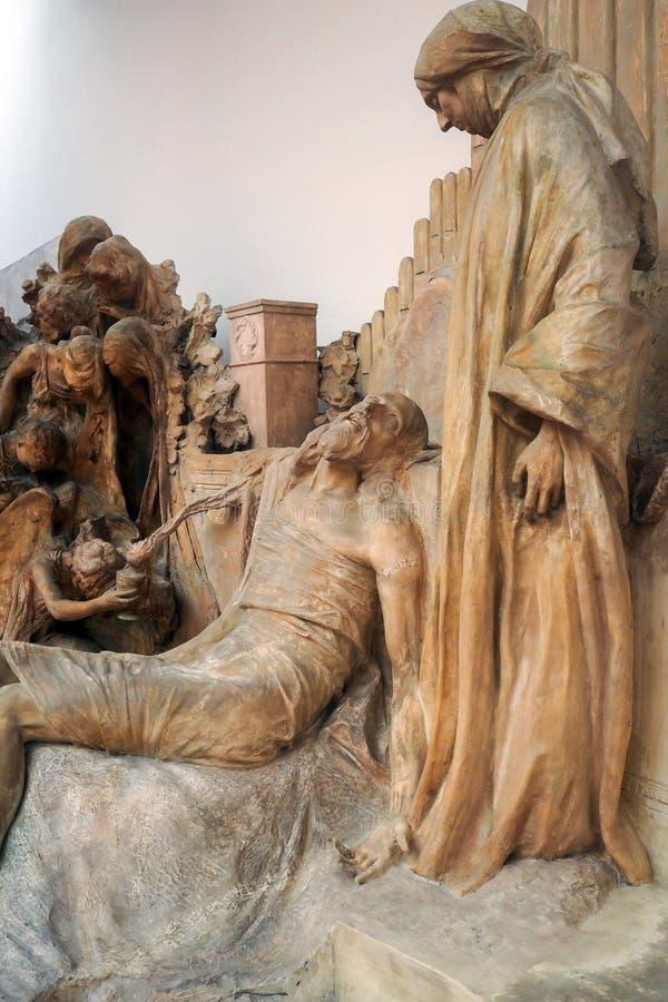 Pietro Canonica Museum nos jardins de Borghese da casa de campo em Roma, Itália foto de stock