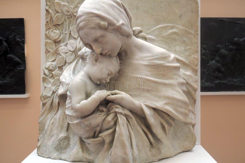Pietro Canonica Museum nos jardins de Borghese da casa de campo em Roma, Itália imagem de stock