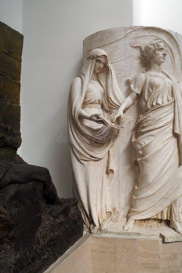 Pietro Canonica Museum nos jardins de Borghese da casa de campo em Roma, Itália imagens de stock royalty free