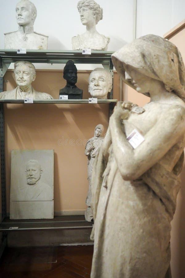 Pietro Canonica Museum nos jardins de Borghese da casa de campo em Roma, Itália fotos de stock