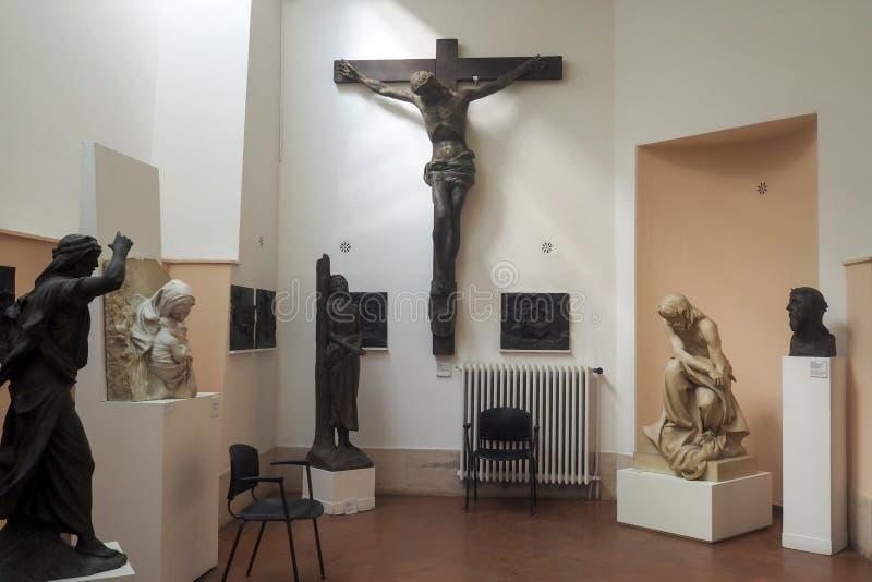 Pietro Canonica Museum nos jardins de Borghese da casa de campo em Roma, Itália imagens de stock