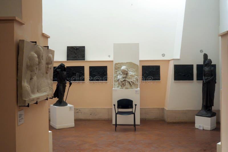 Pietro Canonica Museum nos jardins de Borghese da casa de campo em Roma, Itália fotografia de stock royalty free