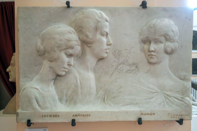 Pietro Canonica Museum nos jardins de Borghese da casa de campo em Roma, Itália foto de stock royalty free