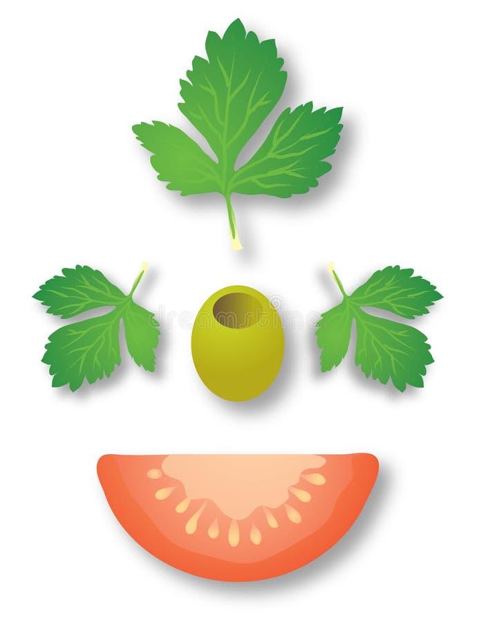 pietruszka oliwek pomidor obraz stock