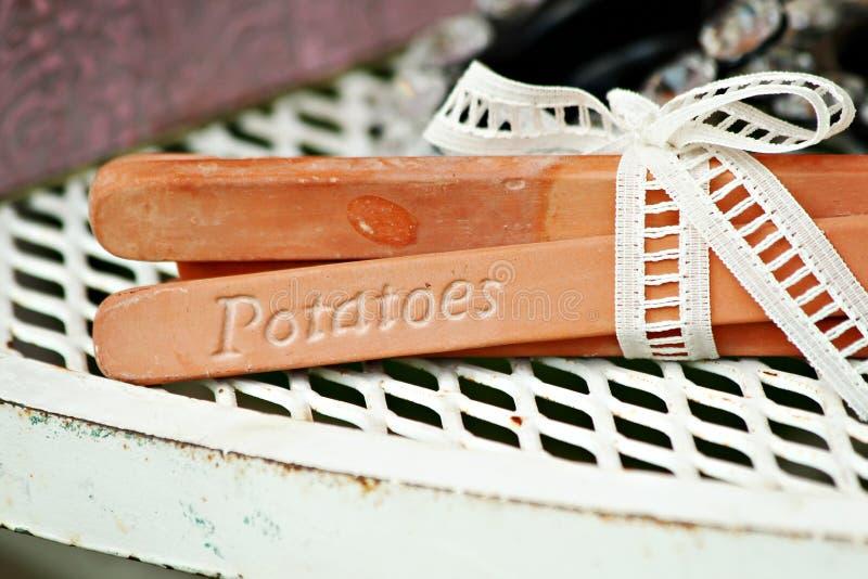 Pieux de jardin photos stock