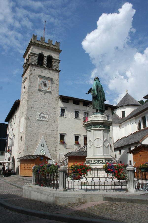 Pieve di Cadore, Italie photos stock
