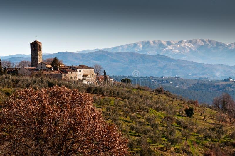 Pievedi Santa Cecilia een Decimo bij San Casciano in Italië royalty-vrije stock afbeeldingen