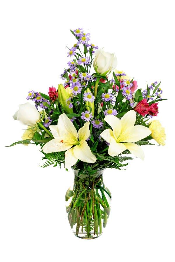 Pieza central colorida del centro de flores fotografía de archivo libre de regalías