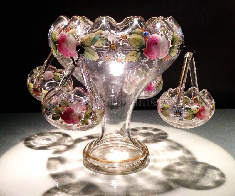 Pieza central de cristal del arte foto de archivo libre de regalías