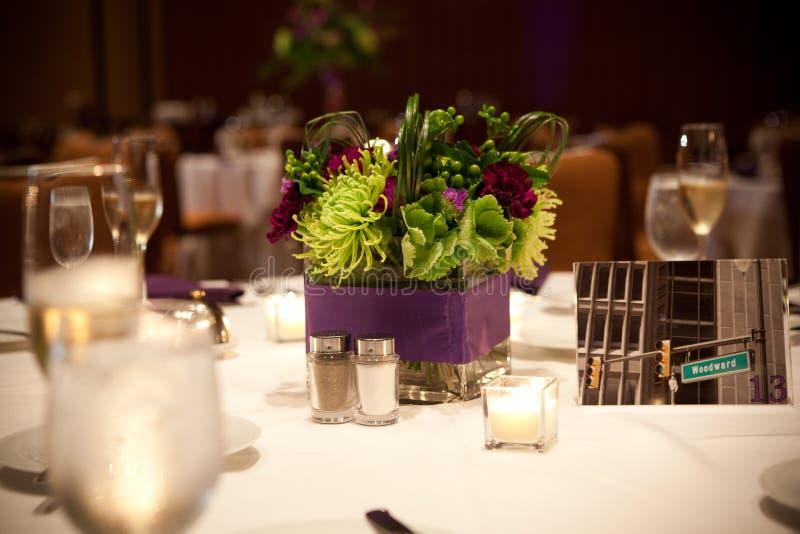 Pieza central del banquete de la flor foto de archivo libre de regalías