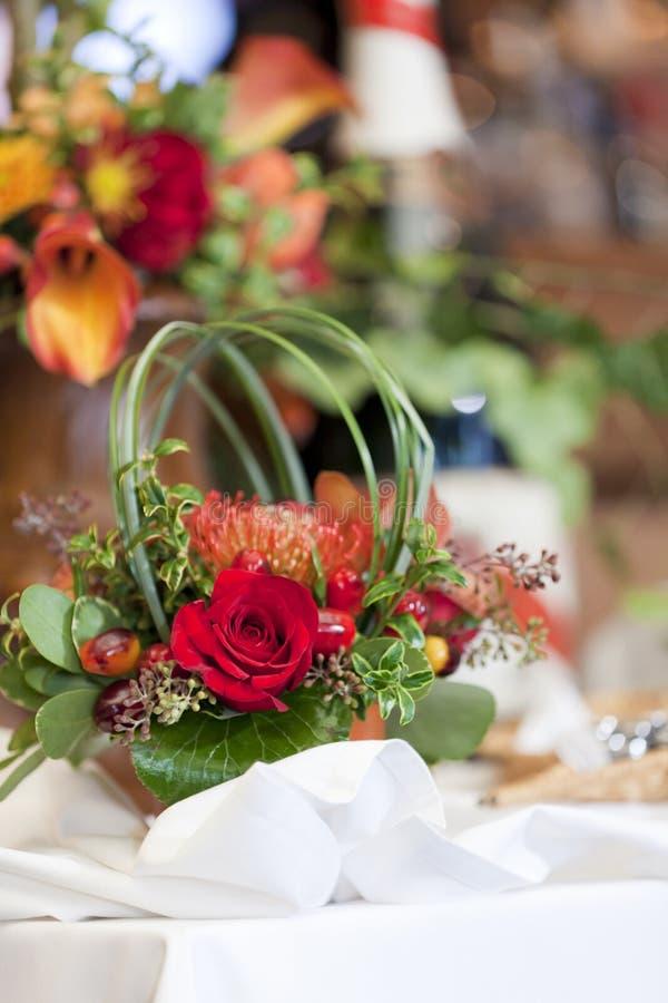 Pieza central floral fotografía de archivo libre de regalías
