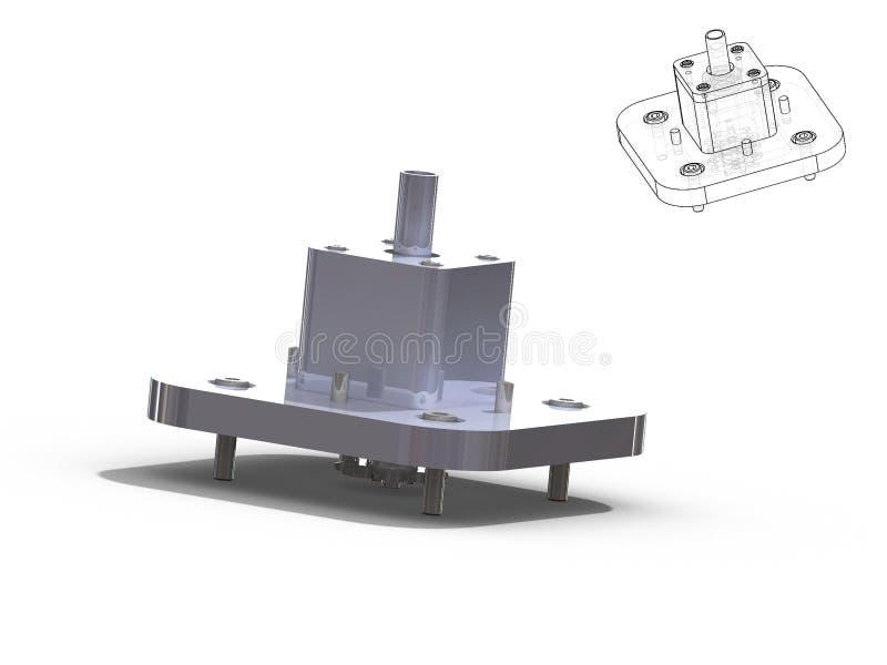 Pieza de la máquina stock de ilustración