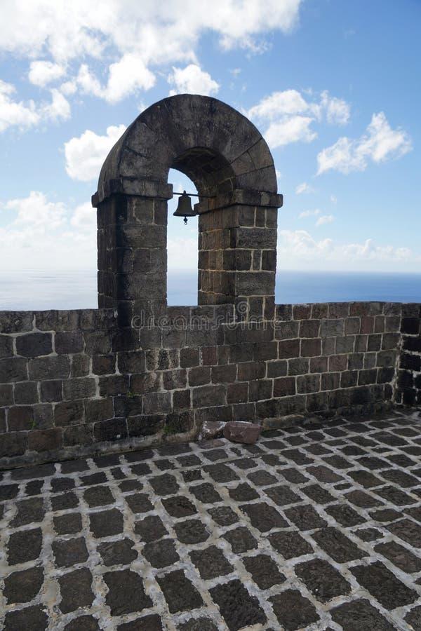 Pieza de la pared con un arco de campana, equipo de la fortaleza de la colina del azufre del santo fotografía de archivo libre de regalías
