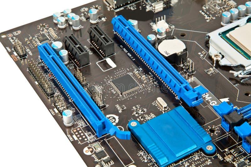 Pieza de la placa madre del ordenador portátil imagen de archivo