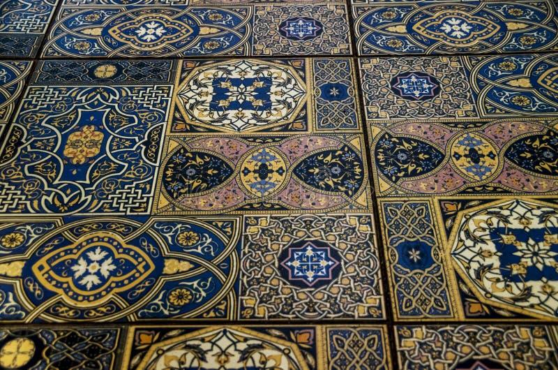 Pieza de la teja de Maroccan imagen de archivo