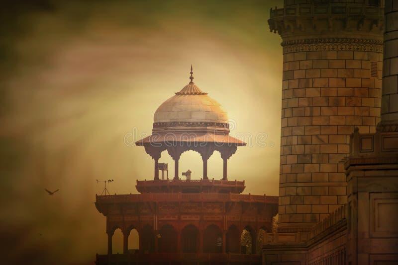 Pieza de top del tejado de Taj Mahal imagen de archivo