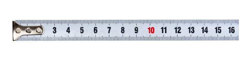 Pieza de una cinta métrica fotos de archivo libres de regalías