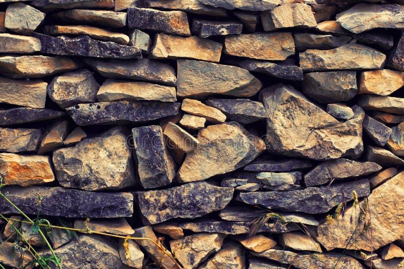 Pieza de una pared de piedra, Provence, Francia imágenes de archivo libres de regalías