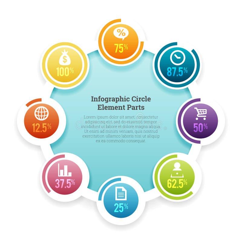 Pieza del elemento del círculo de Infographic libre illustration