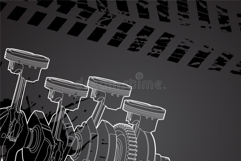 Pieza del motor libre illustration