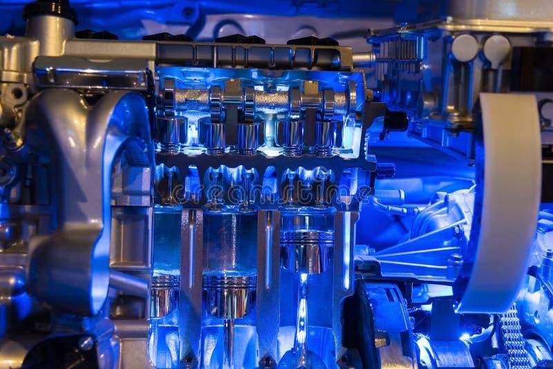Pieza del motor de coche híbrido fotografía de archivo