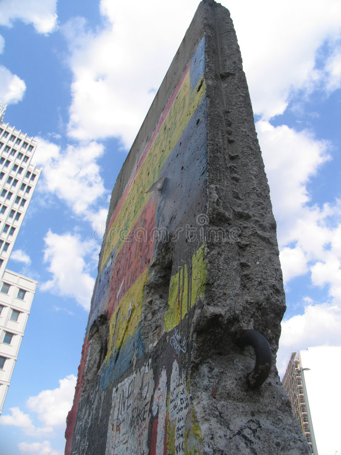 Pieza del muro de Berlín fotografía de archivo