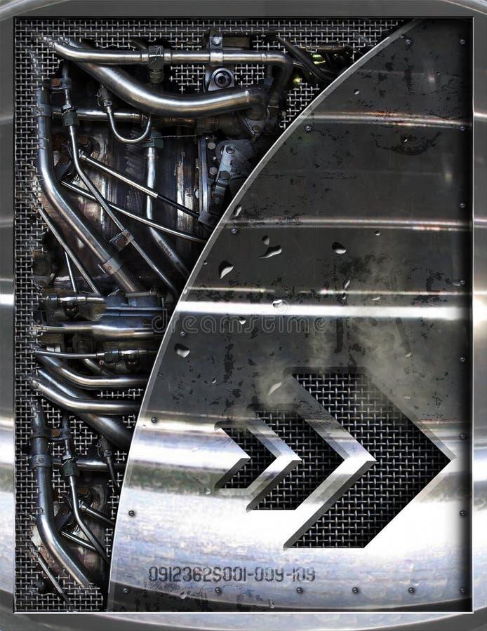 Piezas abstractas del motor ilustración del vector