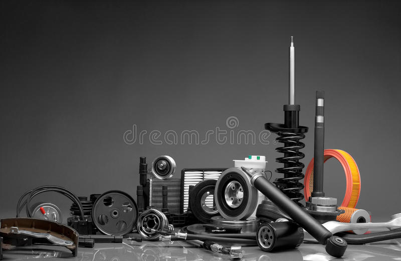 Piezas de automóvil foto de archivo