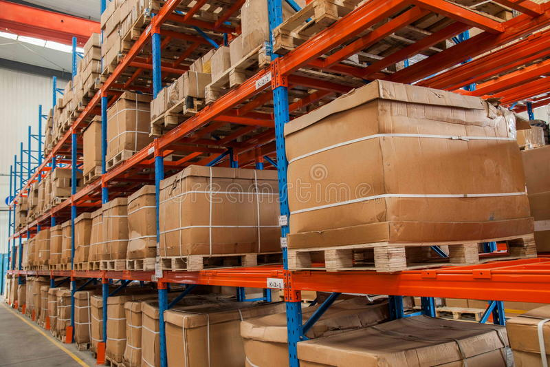 Piezas de automóvil Warehouse de Chongqing Minsheng Logistics Baotou Branch imagen de archivo