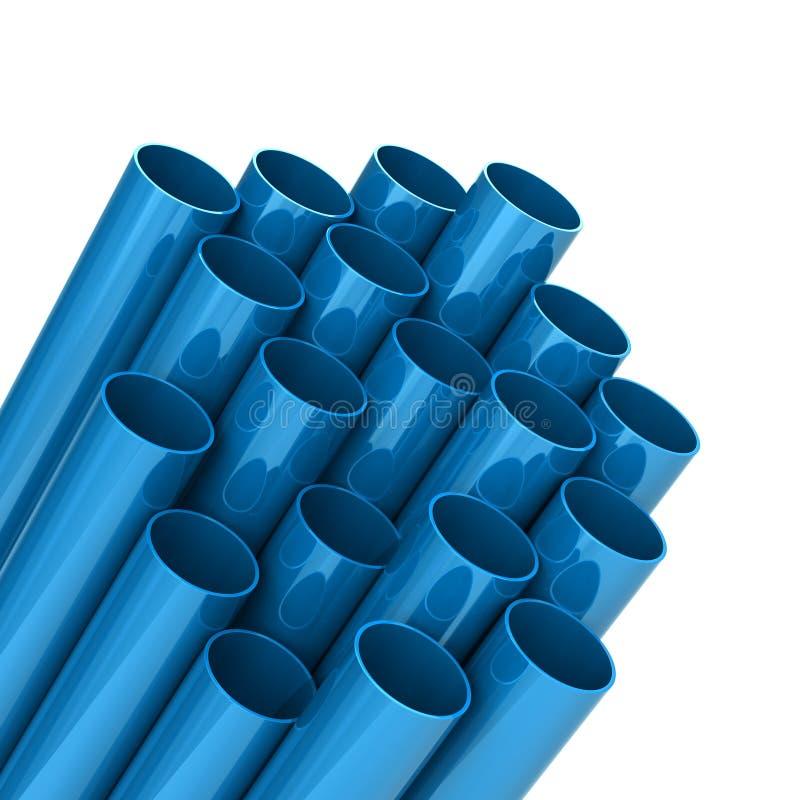 Piezas de comunicación de plástico azul Ilustración 3d ilustración del vector