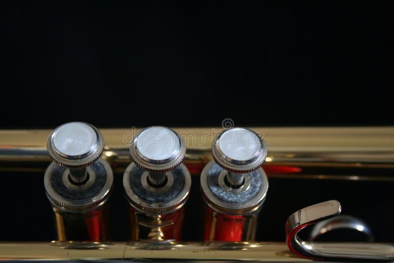Piezas de la trompeta imagenes de archivo