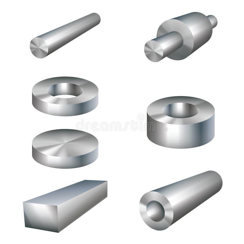Piezas de metal de los productos de acero libre illustration