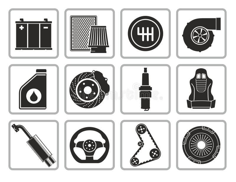 Piezas del coche ilustración del vector
