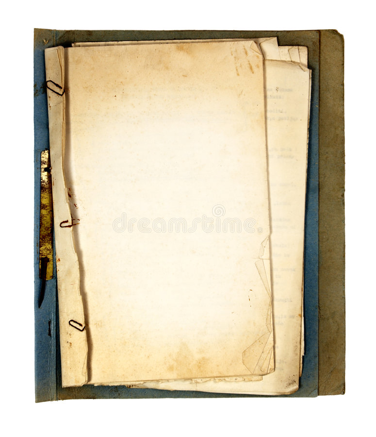 Piezas del libro viejo fotos de archivo