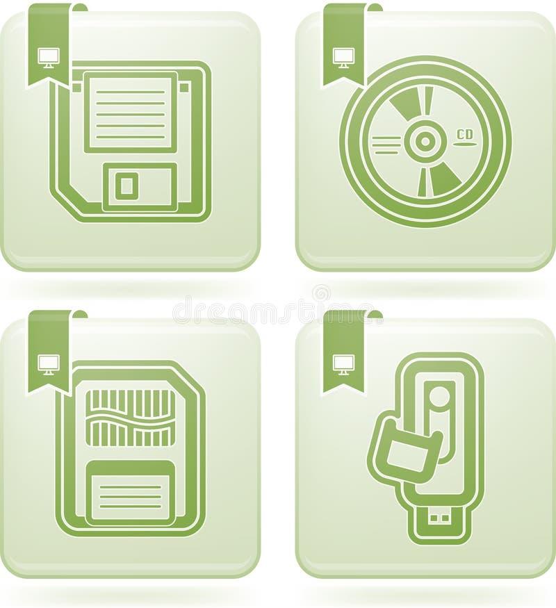 Piezas del ordenador stock de ilustración