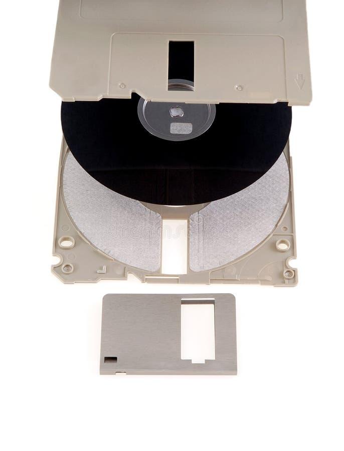 Piezas del ordenador del disco blando foto de archivo