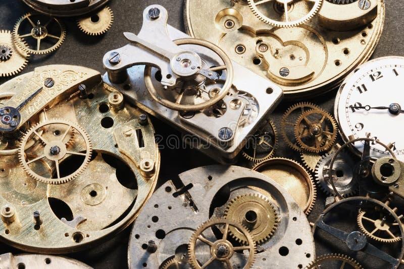 Piezas del reloj fotografía de archivo