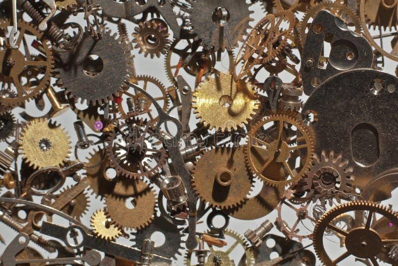 Piezas del reloj imagen de archivo libre de regalías