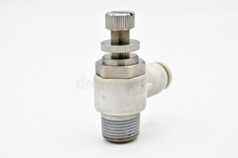 Piezas, herramientas y equipo industriales del metal V?lvula de aire neum?tica imagen de archivo