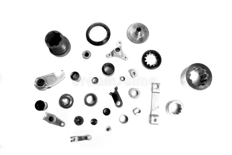 Piezas industriales de la máquina fotografía de archivo