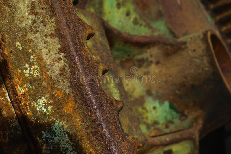 Piezas rurales del dispositivo del metal imagen de archivo