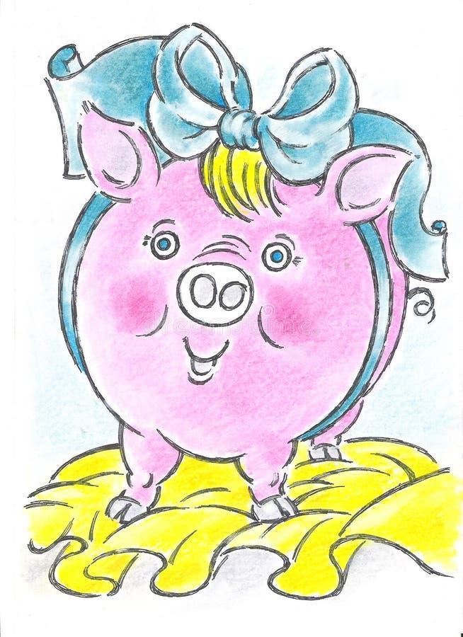 Download Pig stock illustration. Illustration of luck, year, good - 7314446