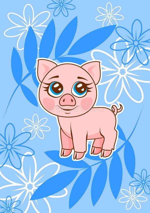 pig royaltyfri illustrationer