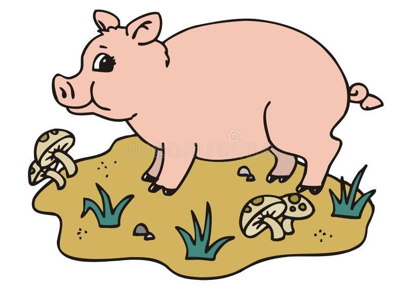 Download Pig stock vector. Illustration of farm, piggskin, trotter - 8139166