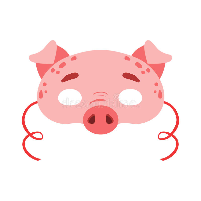 Download Pig Animal Head Mask Kids Carnival Disguise Costume Element Stock Vector - Illustration of  sc 1 st  Dreamstime.com & Pig Animal Head Mask Kids Carnival Disguise Costume Element Stock ...
