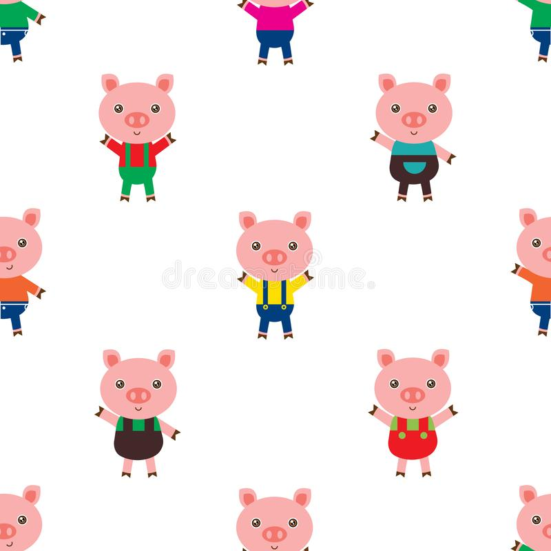 Pig background patern. This is Pig background patern design vector illustration