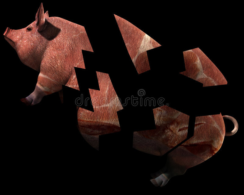 Download Pig And Bacon 12 stock illustration. Image of conceptual - 2773773